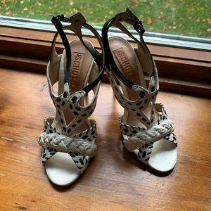 Schutz black & white heels